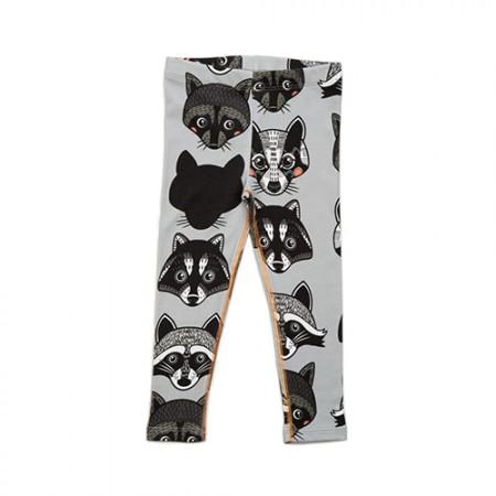 Filemon Kid Leggings Badger & Raccoon