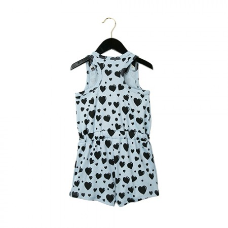 Mini Rodini Hearts AOP Summersuit Blue