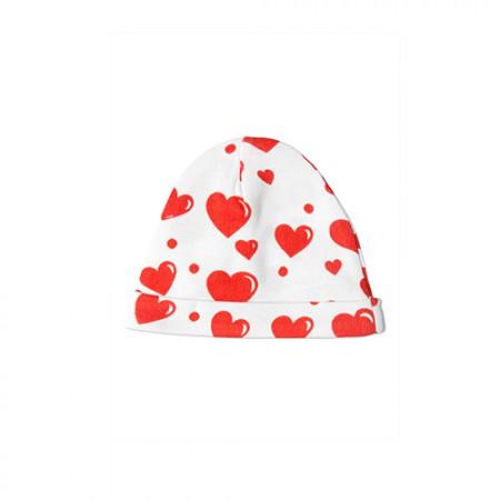 Mini Rodini Hearts Aop Baby Beanie