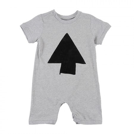 Loud Apparel Moon Playsuit Grey Melange