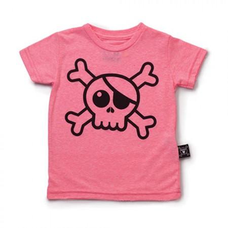 NUNUNU Big Skull T-Shirt Pink