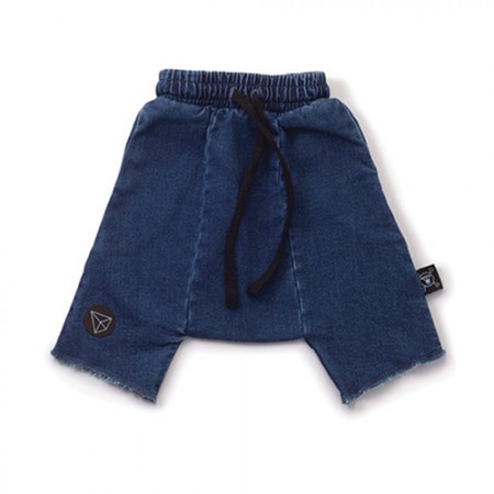 NUNUNU Denim Harem Shorts