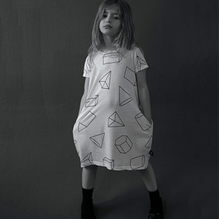 NUNUNU Geometric A Dress