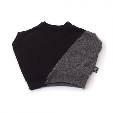NUNUNU Half & Half Round Shirt