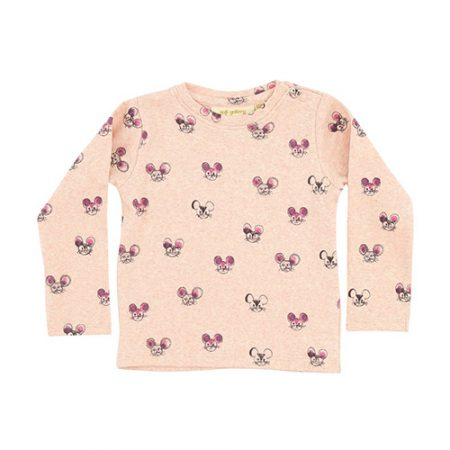 Soft Gallery Baby Bella T-Shirt AOP Mousey Pink