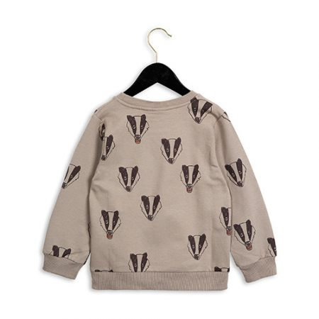 1672018797 Mini Rodini Badger Sweatshirt Grey