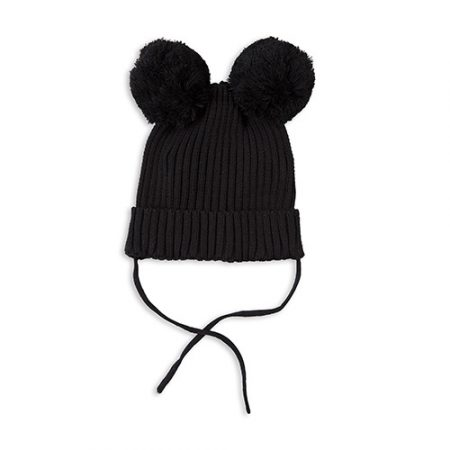 1676016799 Mini Rodini Ear Hat Black