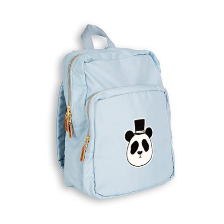 Mini Rodini Panda Backpack Light Blue