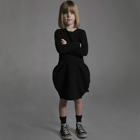 NUNUNU BALLOON DRESS BLACK
