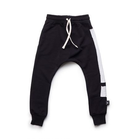 NUNUNU EXCLAMATION BAGGY PANTS BLACK