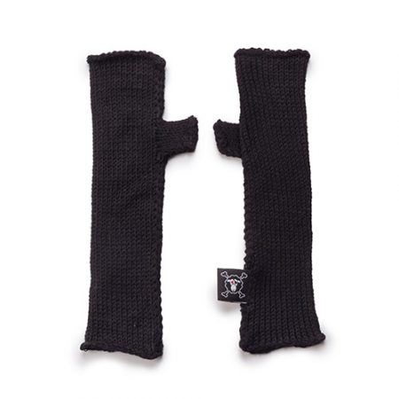 NUNUNU KNITTED GLOVES BLACK