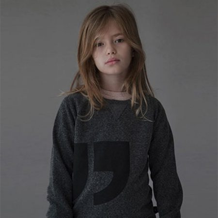 NUNUNU QUOTATION PULLOVER CHARCOAL