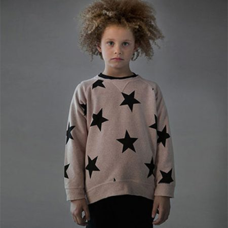 NUNUNU STAR PULLOVER POWDER PINK