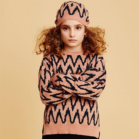 Soft Gallery Leonia Knit AOP GOLD PEAK