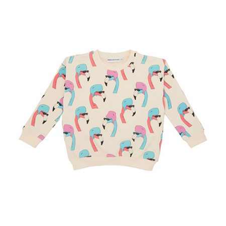 Gardner and the Gang Classic Sweater Helmut Flamingo Creme