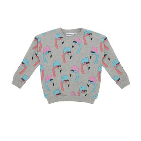 Gardner and the Gang Classic Sweater Helmut Flamingo Grey