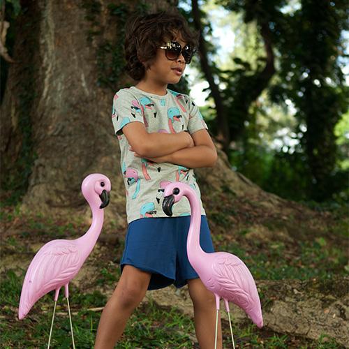 Gardner and the Gang T-Shirt Helmut Flamingo