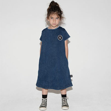 NUNUNU Denim A Dress