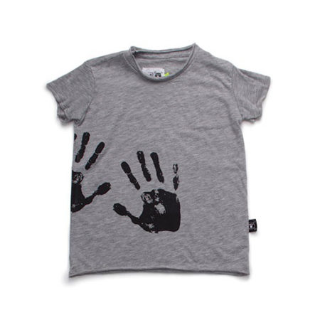 NUNUNU Hand Print Raw T-Shirt