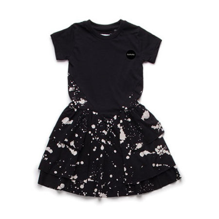 NUNUNU Splash Layered Dress