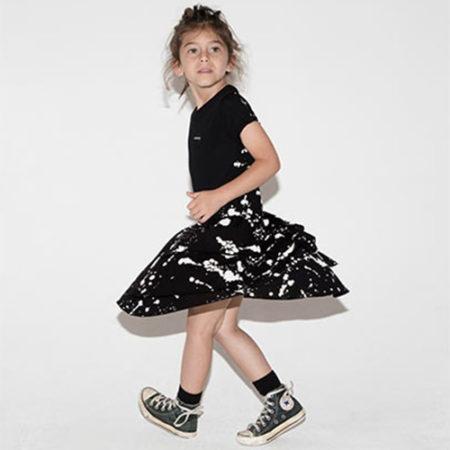 NUNUNU Splash Layered Dress