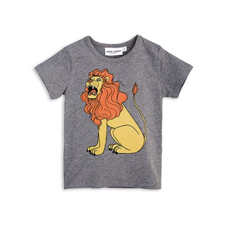 mini rodini lion sp ss tee grey melange
